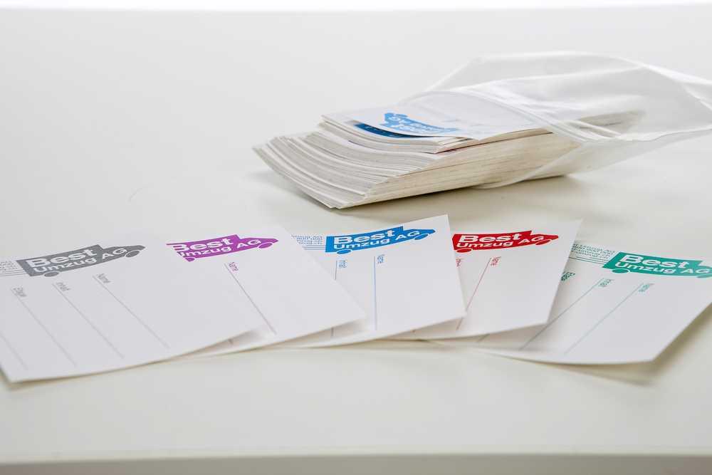 Etiketten - Set mit 100 Stück (5 Farben à 20 Stk.)